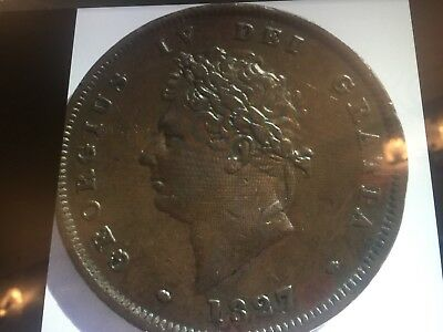 1827 Penny George Iv Really Nice Grade One Of A Few Escaped The Corrosion Proble