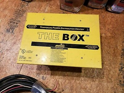 Temporary Power Distribution Box with cable, 50 AMP, 125/250 Volts, 60Hz, 4-Wire