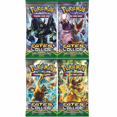 Pokemon TCG XY Fates Collide x4 Factory Sealed Booster Packs English Card Game