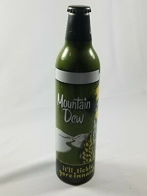 2008 USA MOUNTAIN DEW GREEN LABEL ART BILL HILLY EMPTY 16oz ALUMINUM SODA BOTTLE