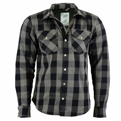 Motorcycle Kevlar Fibre Motorcycle Shirt Vintage Cafe Shirt Motorcyle Checkered