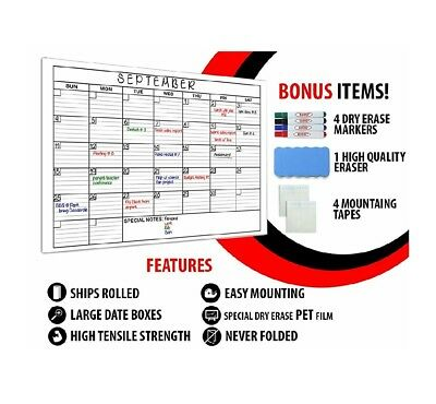 Large Dry Erase Monthly Calendar Set / 36 X 48 Inches