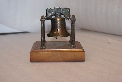 The Liberty Bell Brass Miniature on Wood Base By Penncraft