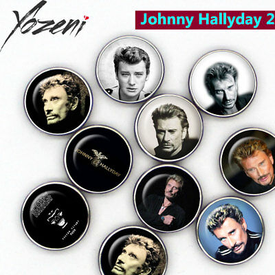 """Boutons-pression """"Johnny Hallyday"""", Chunks, Snap Buttons, interchangeable"""