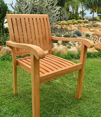 Zenvida Teak Wood Folding Patio Dining Chair Set Of 2 2