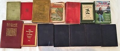 Lot of 14 Antique Collectible Vintage Old Some hard to find Books 13 are HC ++++