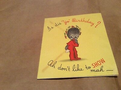 Vintage Black Happy Birthday Card