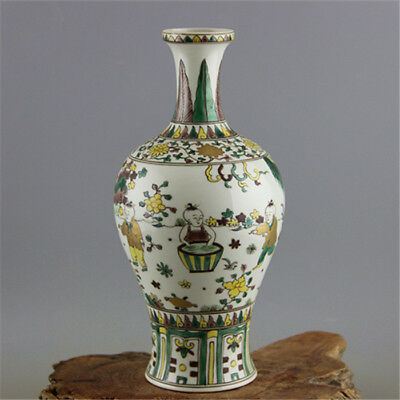 China Antiques porcelain MING ChengHua hand painted children kite GUANYIN vase