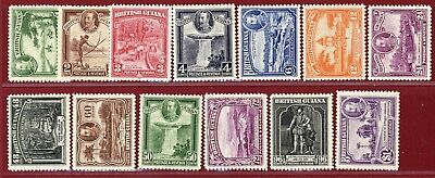 British Guiana 1934 #210-22, George V Definitives, Mint, Hinged, OG, SCV $164.85