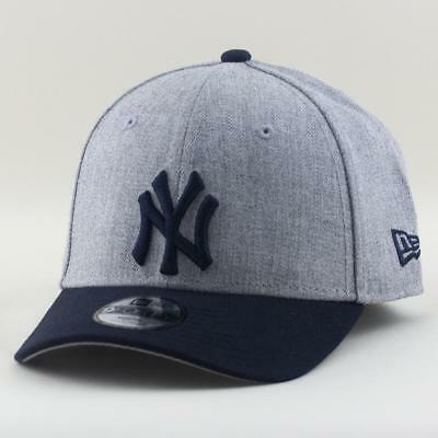Youth New York Yankees Cap New Era MLB Team 9Forty Hat In Heather Grey