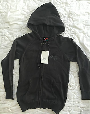 BROOKLYN INDUSTRIES Hooded Zip Jumper - knitted Size 8 NWT