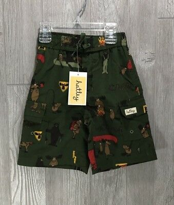 "Hatley Boys Swim Trunks ""Camp"" 5T Toddler New NWT"