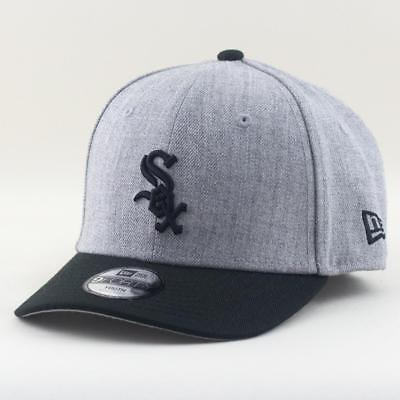 Youth Chicago White Sox Cap New Era MLB Team 9Forty Hat In Heather Grey