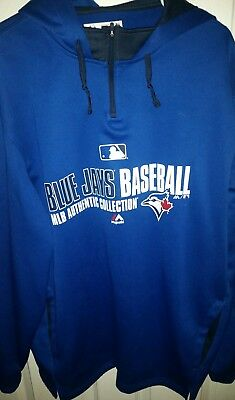 9d7f83542b8 TORONTO BLUE JAYS MAJESTIC XL Authentic Collection Team Icon Pullover Hoodie