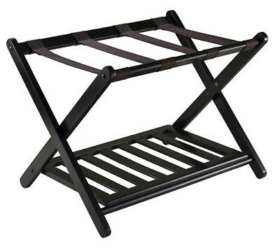 Luggage Garment Rack Small Lightweight Portable Deep Suitcase Stand Fold Away