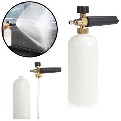 "Car Snow Foam Lance Cannon w/ 1/4"" Quick Connect Adapter for Pressure Washer Jet"