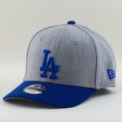 Youth LA Dodgers Cap New Era MLB Team 9Forty Hat In Heather Grey