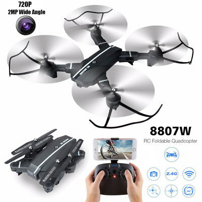 8807W 720P 2MP Wide Angle Camera Drone Wifi FPV Phone Control RC Quadcopter Toy