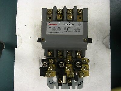 Furnas Magnetic Starter 14DB32A, 3 H27 Overloads, 27 Amps, Size 1, 120/240 Coil