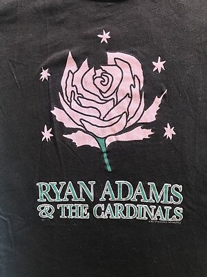 Ryan Adams & The Cardinals Shirt Women's Size Medium Brown Pink Green