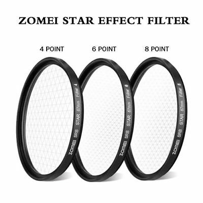 ZOMEI 52/58/67/72/77 star effect starburst Lens 4+6+8 pointed Camera filter Q9