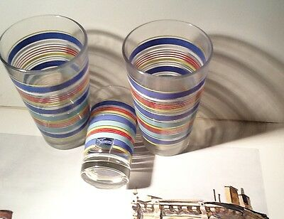 "Vintage Fiesta Glasses---Two 5 7/8""  One 4 1/4""--"