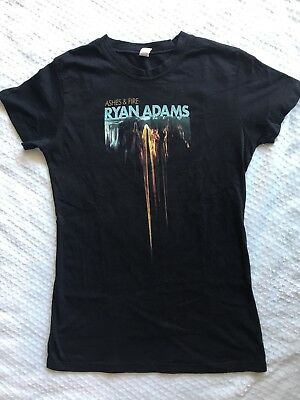 Authentic Ryan Adams Ashes & Fire Shirt Women's Fitted Size Large