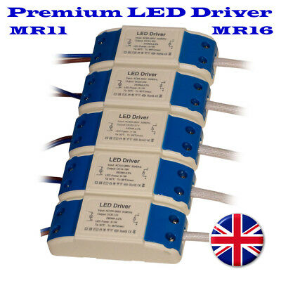 Compact Driver AC 230V Constant Current for LED Strip Lights CCTV 3W-36W MR11/16