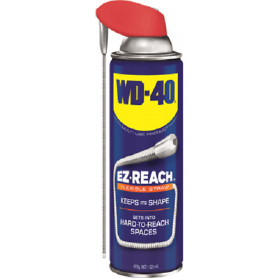 WD-40 MULTI USE LUBRICANT 425g Aerosol, EZ-REACH 20cm Flexible Straw *Aust Made