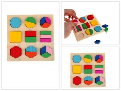 Kids Baby Wooden Learning Toy Puzzle Geometry Educational Toys Early Learning