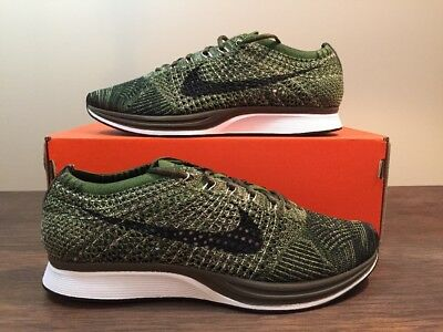 146567e7c511 NIKE FLYKNIT RACER EARTH TONES ROUGH GREEN OLIVE 862713-300 Size 6 Wmns 7.5