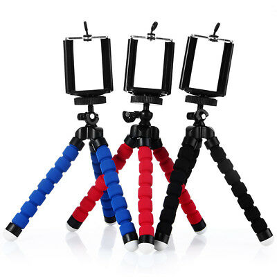 Portable Adjustable Phone Tripod Octopus Holder Stand + Mount Adapter for Selfie
