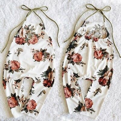 USA Newborn Baby Girl Boy Cotton Romper Playsuit Bodysuit Clothes Summer Outfit