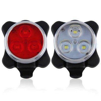 Cycling Bicycle Bike Front Rear Tail Light USB Rechargeable 3LED Lamp 4 modes