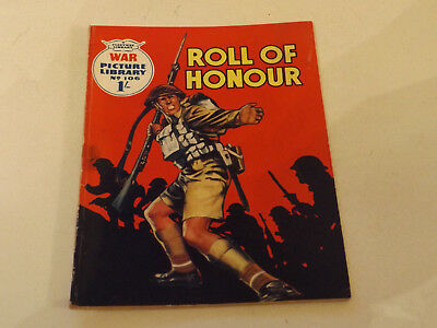 WAR PICTURE LIBRARY NO 106!,dated 1961!,GOOD for age,great 57!YEAR OLD issue.