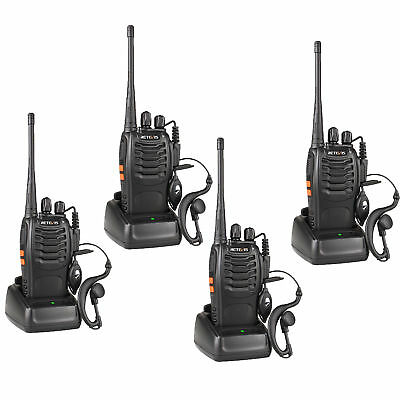 4pcs Retevis H777 Walkie Talkie UHF 16CH 1000mAh Battery Two Way Radios