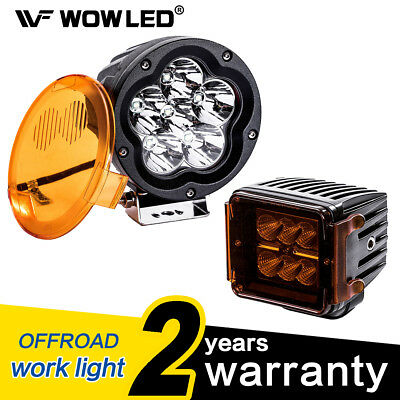 WOW - 18W 60W LED Driving Work Light Bar with Amber Protection Cover 12V 24V