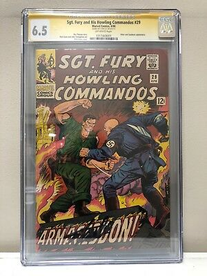 Sgt. Fury And His Howling Commandos #29 Cgc Ss 6.5 Fn+ Signed By Stan Lee!