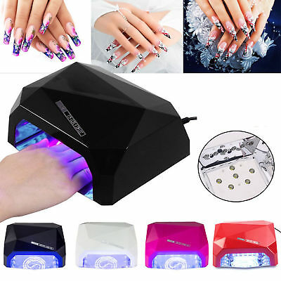 36W LED Nail Dryer Diamond Shape Curing lampe Sèche Machine UV Gel Nail Polish