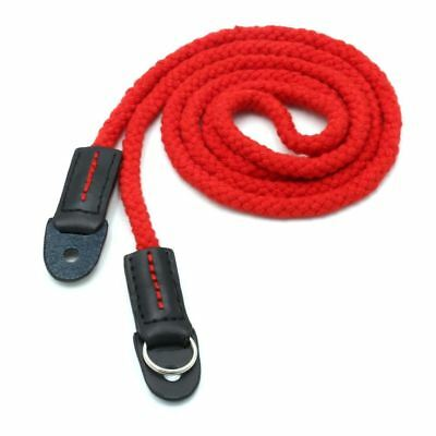 red Long rope woven shoulder strap real leather Cotton for for  all camera