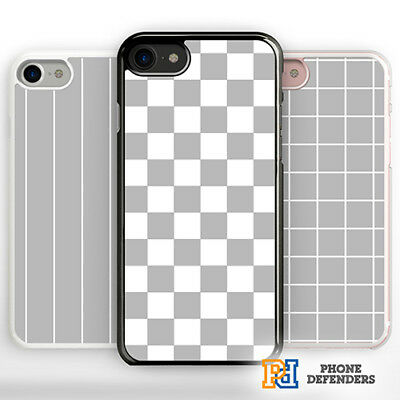 free shipping a6ff9 3be1f GRID PHONE CASE Cover Chequered Fashion Tumblr for iPhone Samsung  Hard/Rubber