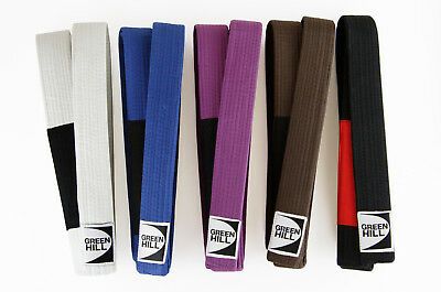 Cintura Da Bjj Colorata Green Hill Belt Martial Arts Brazilian Jiu Jitsu Lotta