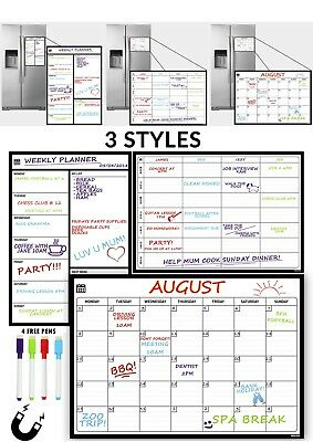 Magnetic Whiteboard Fridge Calendar Planner / Dry - Wipe / Notice / A3 Size #C2