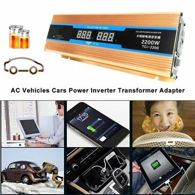2000W Car Power Inverter DC12V To AC110V Dual USB Converter High Conversion Q9