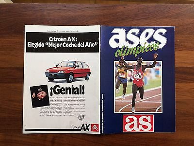 Álbum Ases Olimpicos  1987 Edit AS Completo Carl Lewis