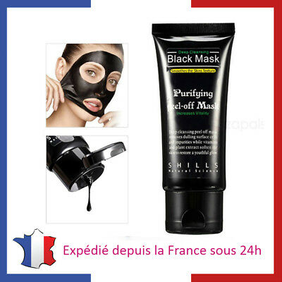 Masque Visage Au Charbon Actif Points Noirs Acne - Peeling Black Mask Charcoal