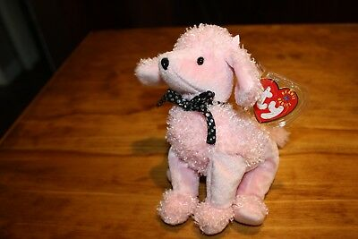 TY Beanie Baby - BRIGITTE the Pink Poodle Dog -  w/ Mint Tags - RETIRED 2001