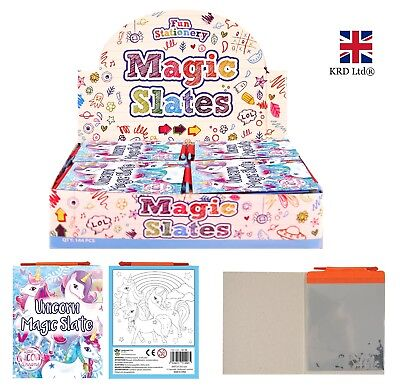 UNICORN MAGIC SLATES Kids Girls Birthday Party Bag Fillers Favors Toys Gift UK