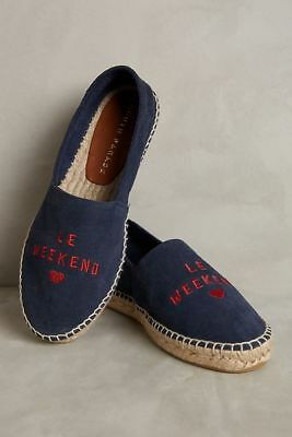NIB Brand New In Box Anthropologie South Parade Le Weekend Espadrilles 37 (US7)