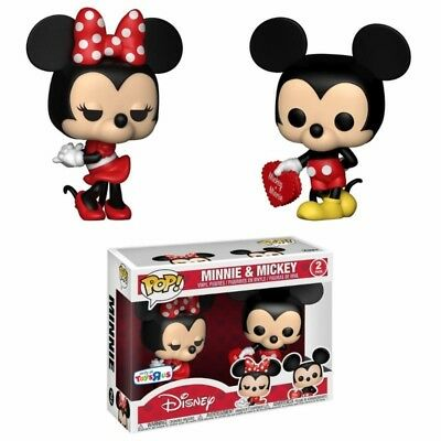 Minnie Mickey Mouse Valentine Valentin POP! Disney 2-Pack Set Vinyl Figur Funko